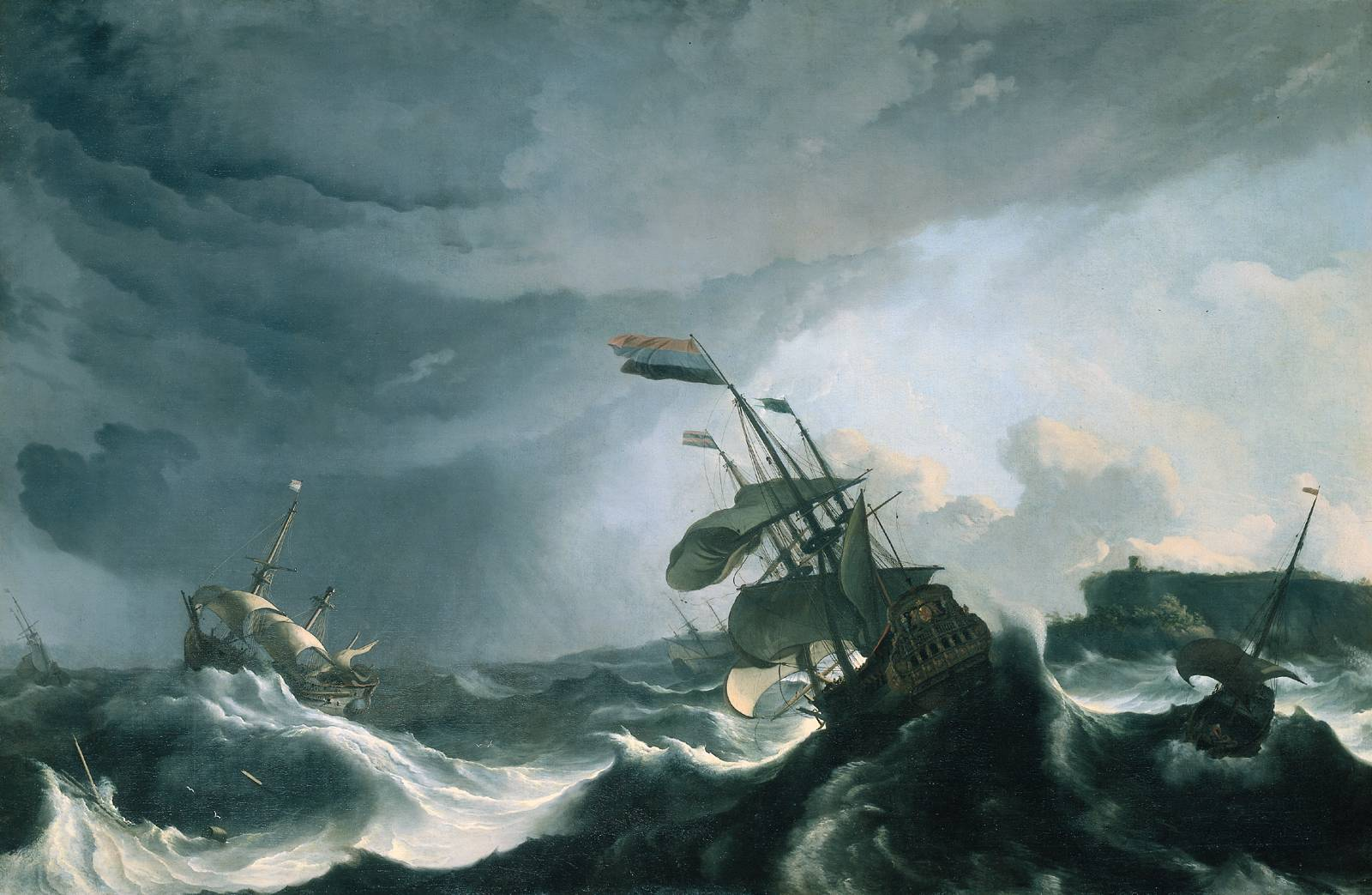 sailing in a heavy storm